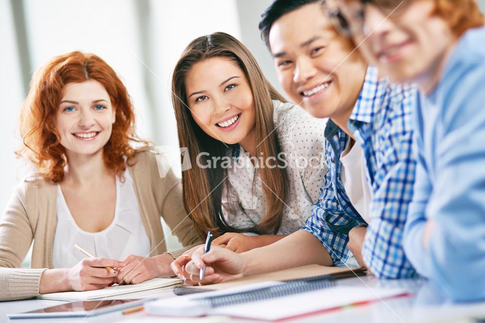 Happy groupmates