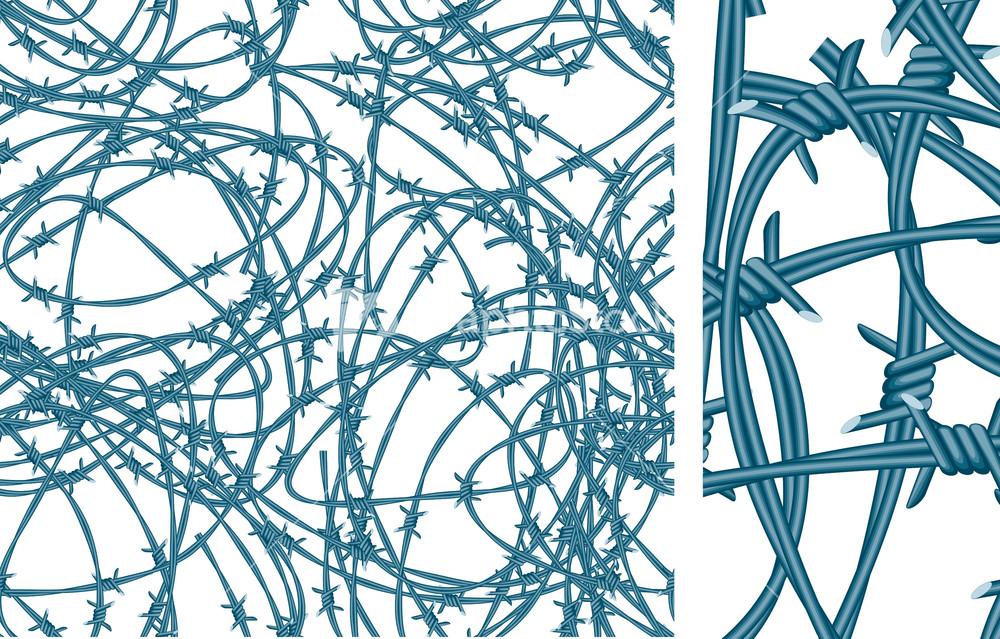 Трафарет для аэрографии колючая проволока 20*30 cm