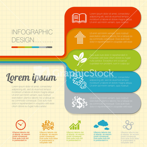 Infographic template landscape