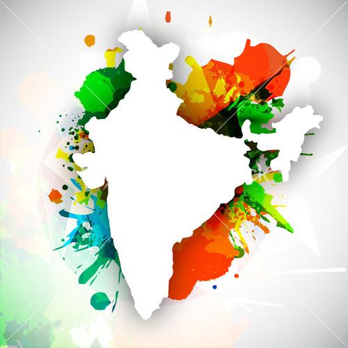Indian flag background design