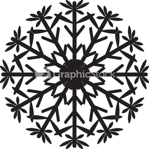 Snowflake flourish vector