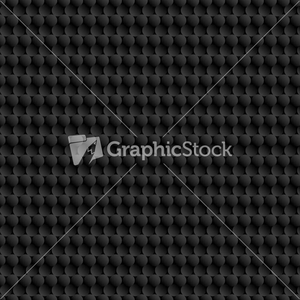 3d Black Background With Circles