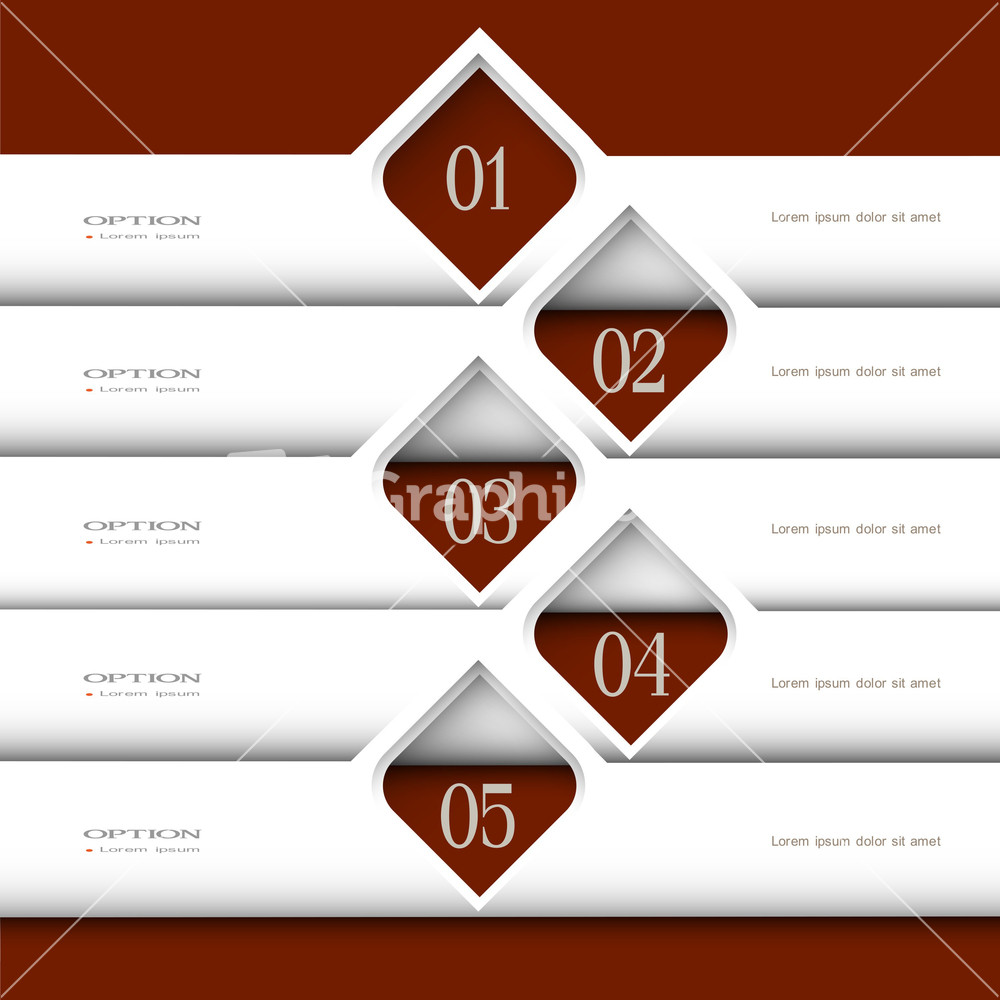 White Round Design Template For Infographics
