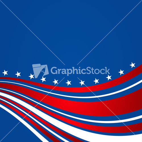 Th Of July American Independence Day Flyer Stock Image