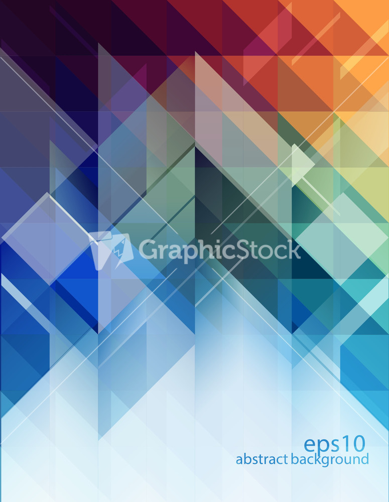 Abstract Background - Geometric Design Elements Stock Image