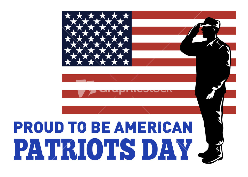 American Patriots Day Poster Greeting Card Stock Image