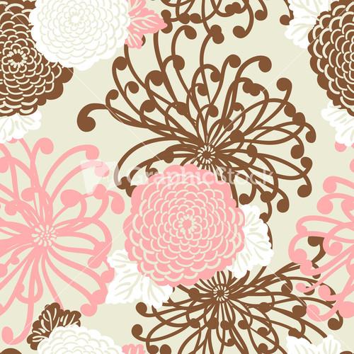 Art Deco Flower Seamless Pattern