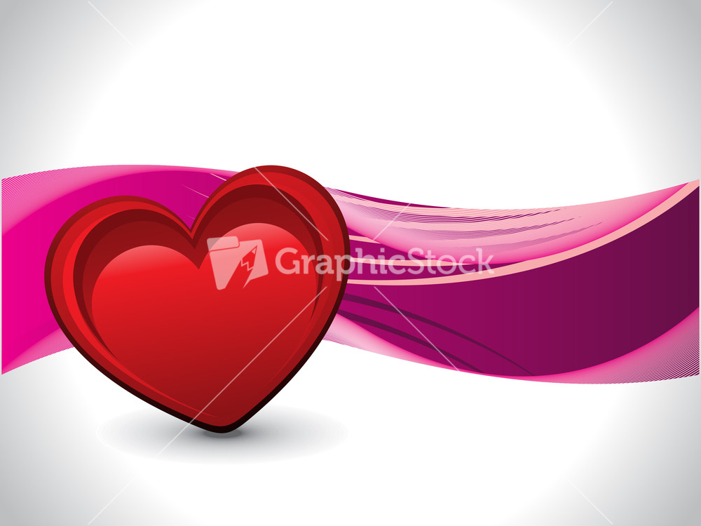 Background With Isolated Romantic Heart