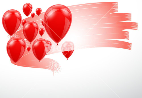 Beautiful Balloons Design Background Vector