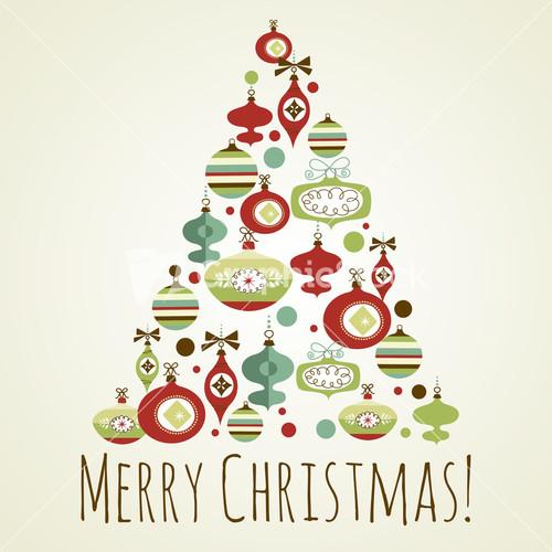 Beautiful Christmas Tree Ilration Christmas