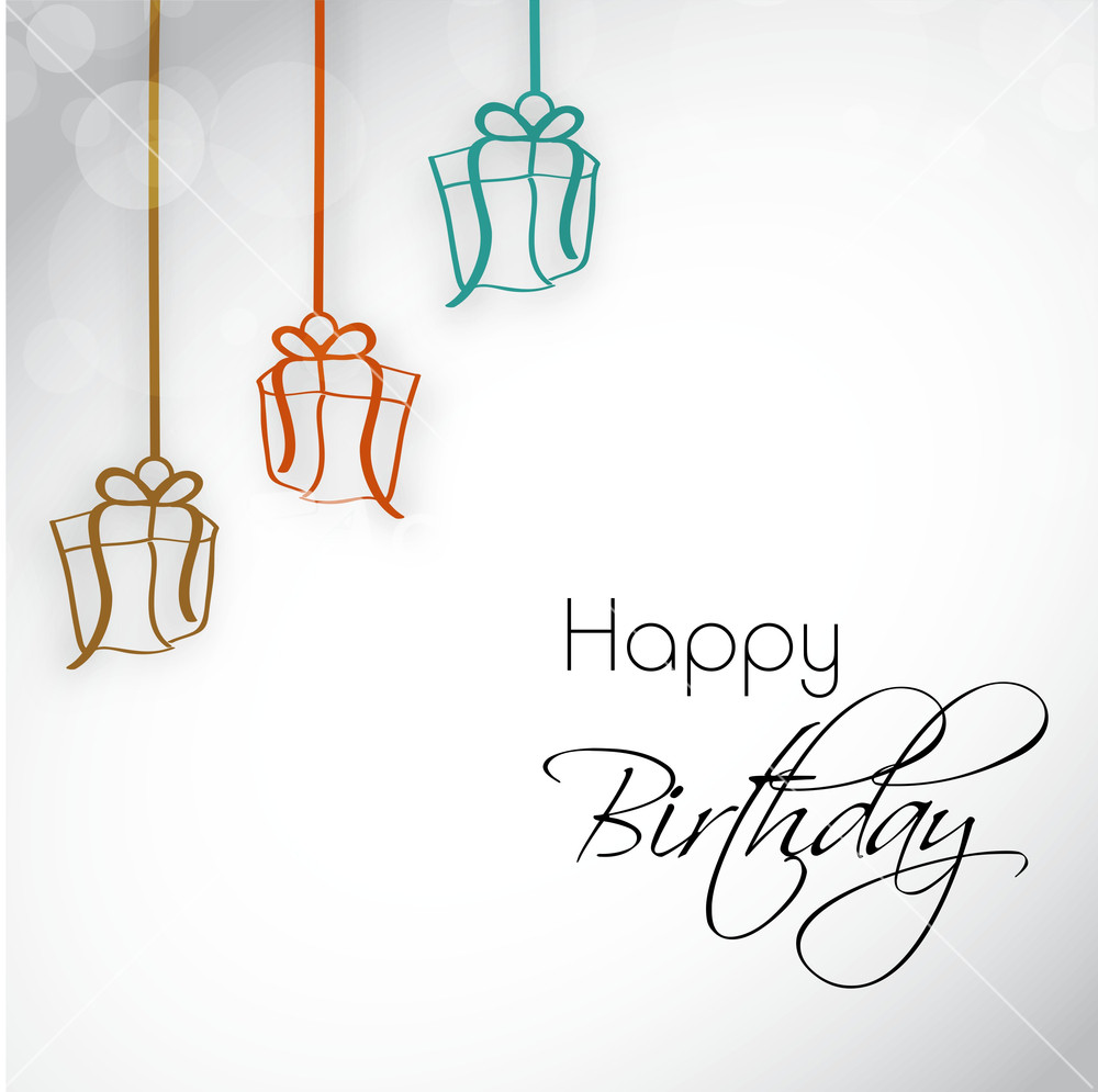 Birthday Party Invitation Letter Or Greeting Card With Hanging