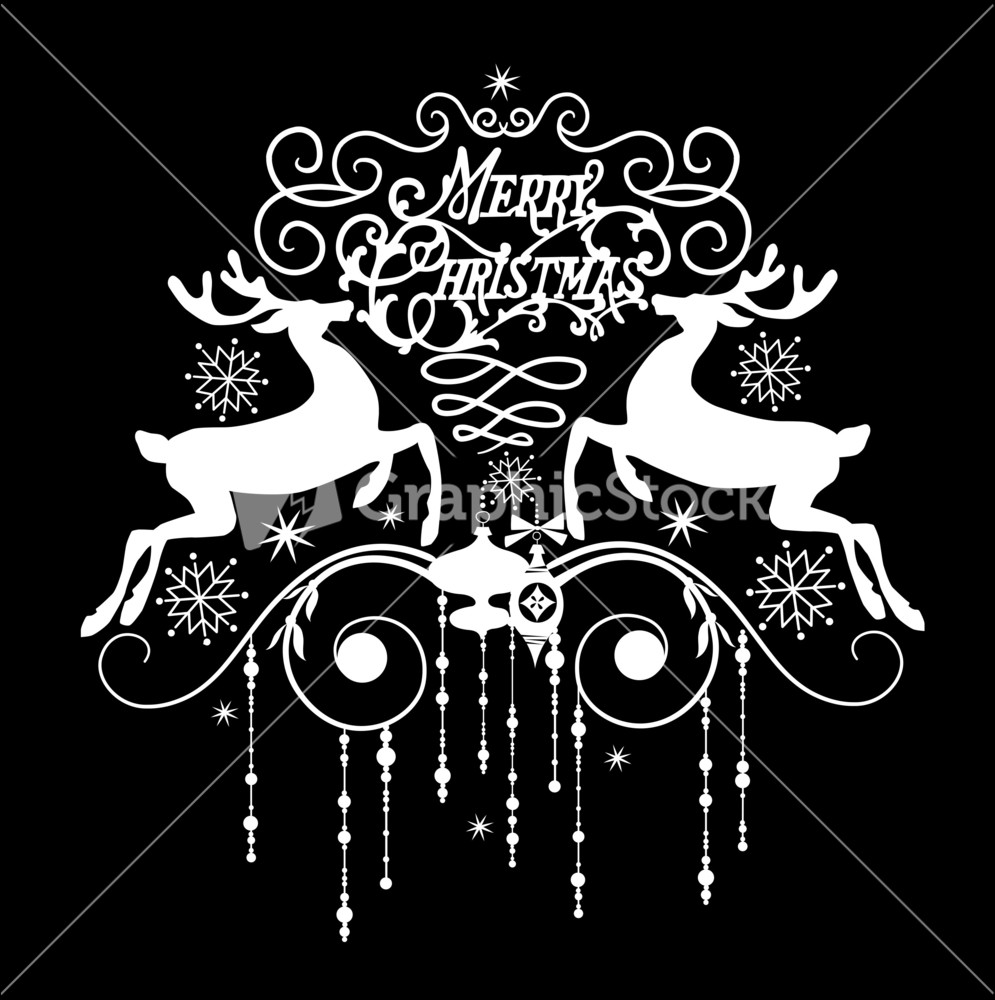 free christmas card clipart black and white - Christmas Images Black And White