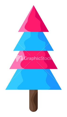 Blue christmas background with christmas ornaments - Pink and blue christmas tree ...