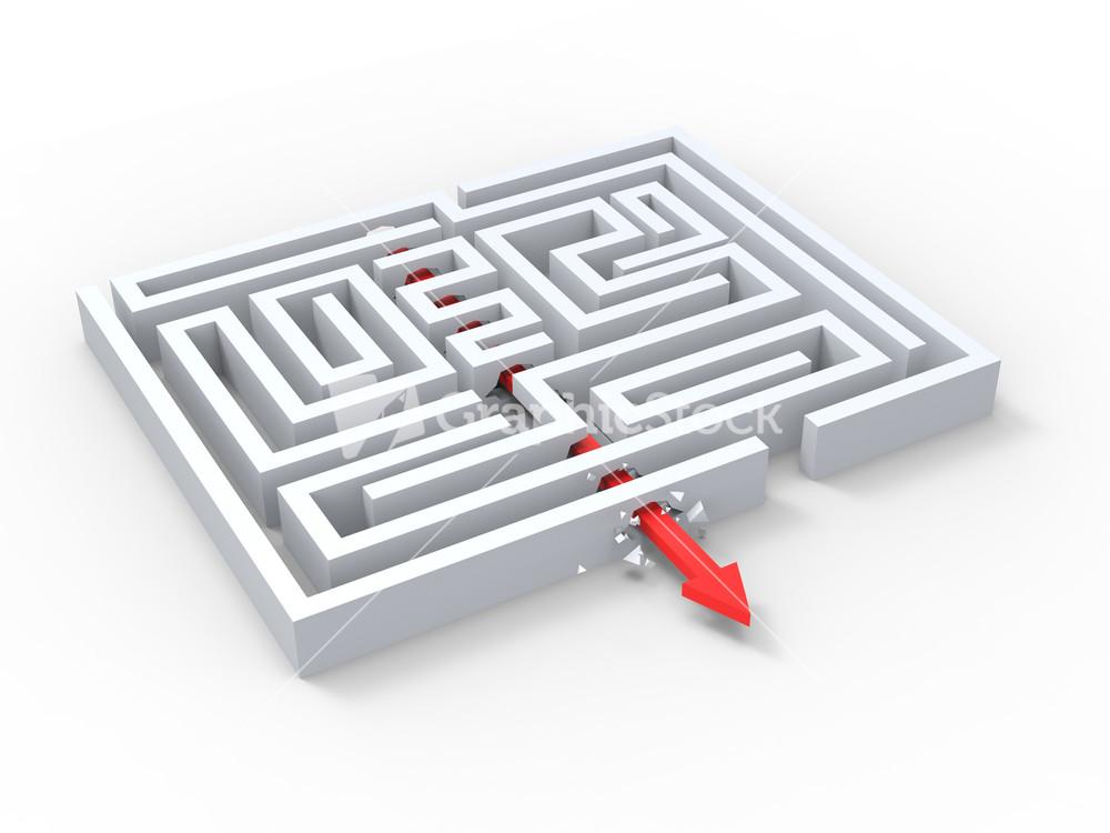 Break Out Of Maze Showing Puzzle Exit