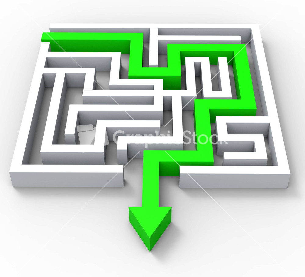 Break Out Of Maze Showing Puzzle