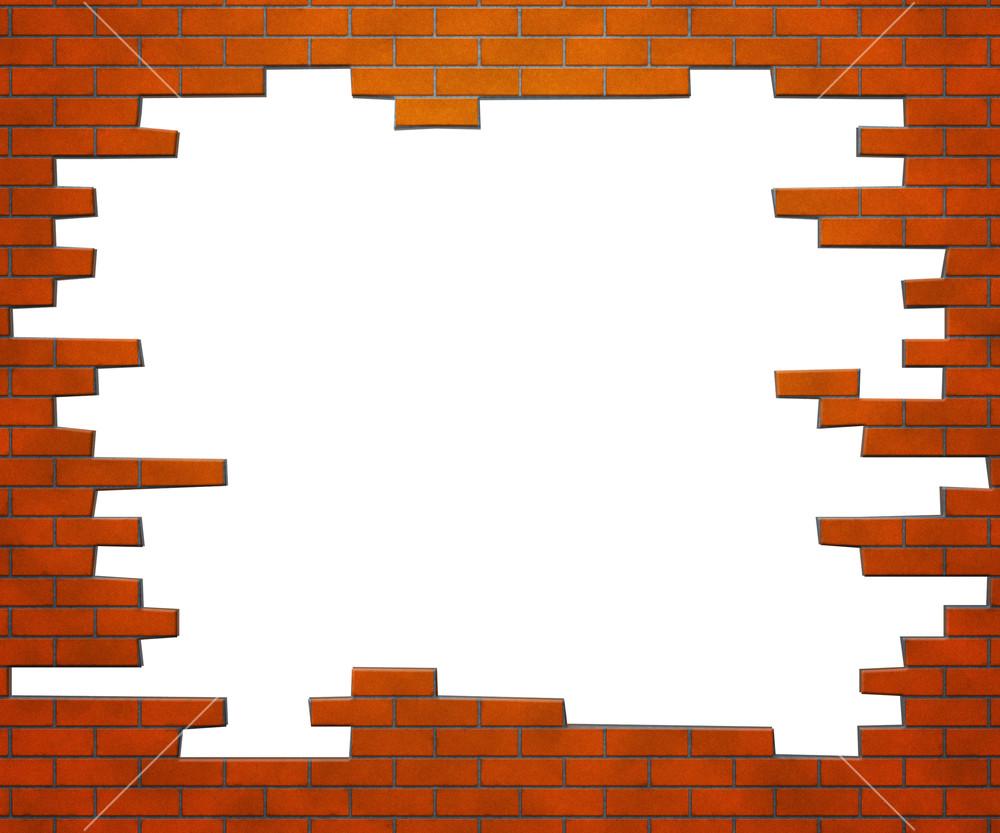 Old brick wall as a frame 01 stock photo image 18377500 - Filename Brick Frame_myvxxf9u_m Jpg