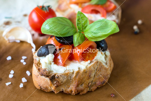 Bruschetta ingredients for Vector canape tutorial