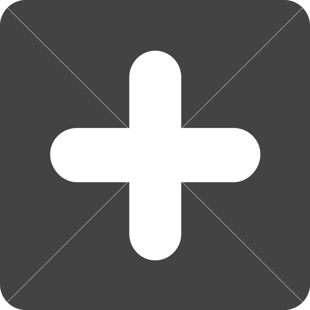 Button Add 3 Glyph Icon