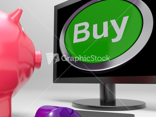 Piggy Bank On Purchase Stock Image
