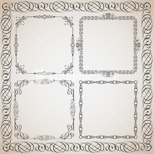 Delicate calligraphic frame