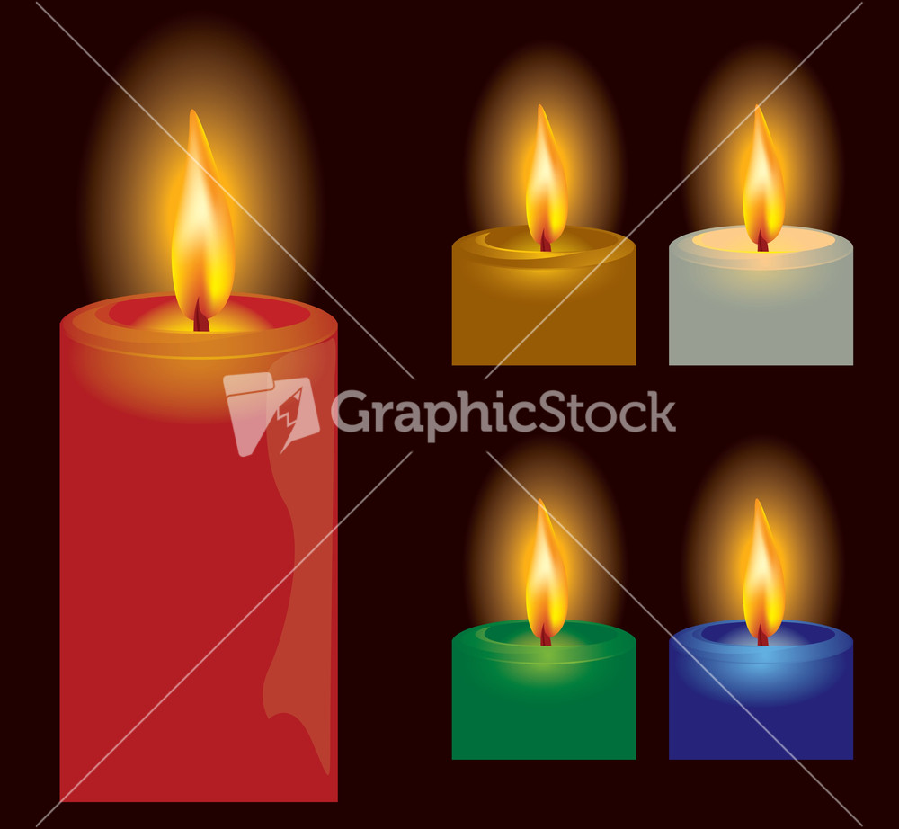 Candle. Vector. Stock Image