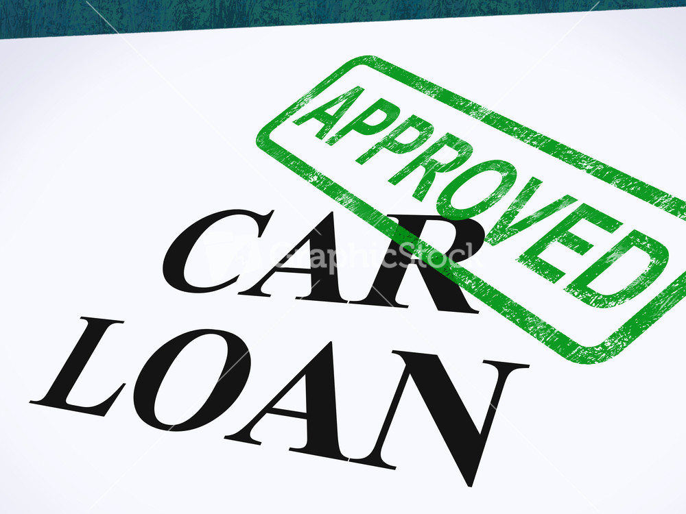 Car loan approved stamp shows auto finance agreed stock image for The motors approved by the motors
