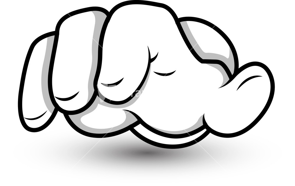 Cartoon Characters 3 Fingers : Cartoon hand fingers pointing vector illustration