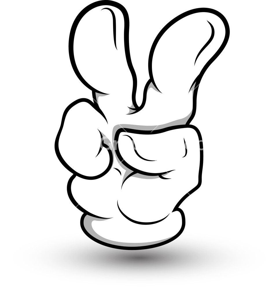 Cartoon Hand - Two Fin...