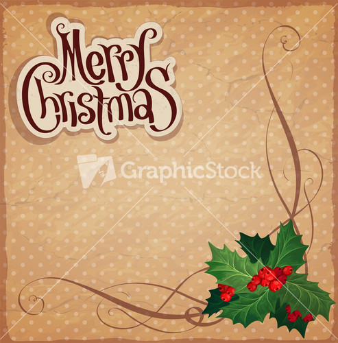 Christmas And New Year. Vector Greeting Card Template. Stock Image