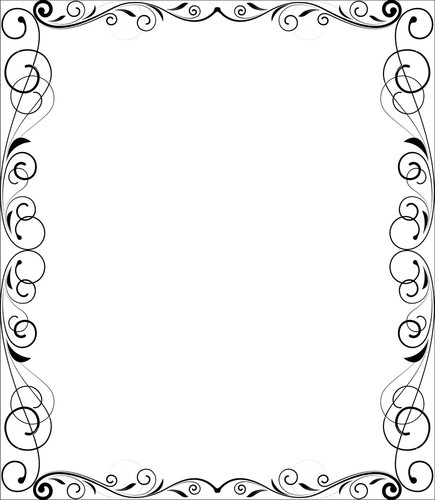 Decorative Flourish Frame Stock Image