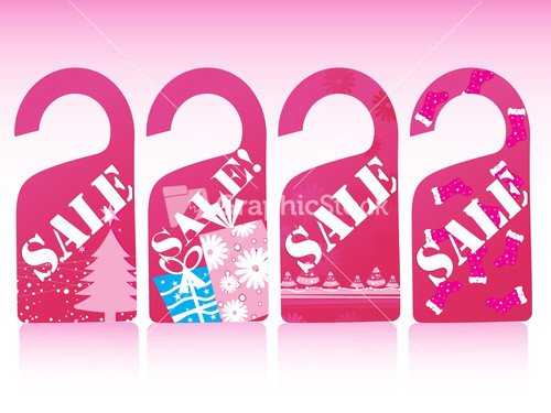 Christmas Sale Tag Vector Template – Sale Tag Template