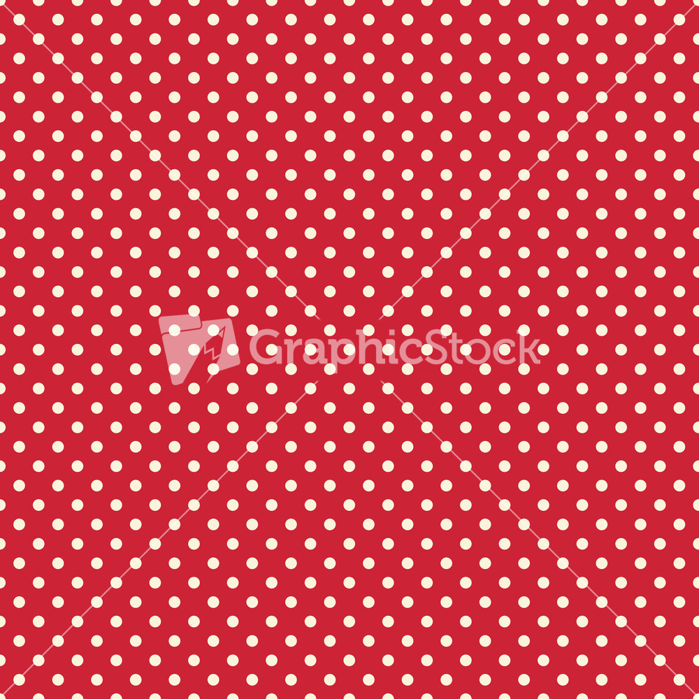 White polka dot circus pattern on a red background for Red and white polka dot pattern