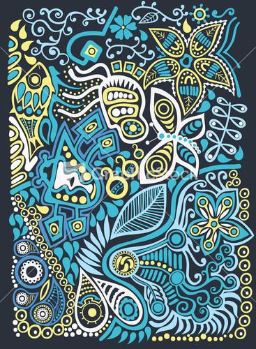 Doodle Background Stock Image