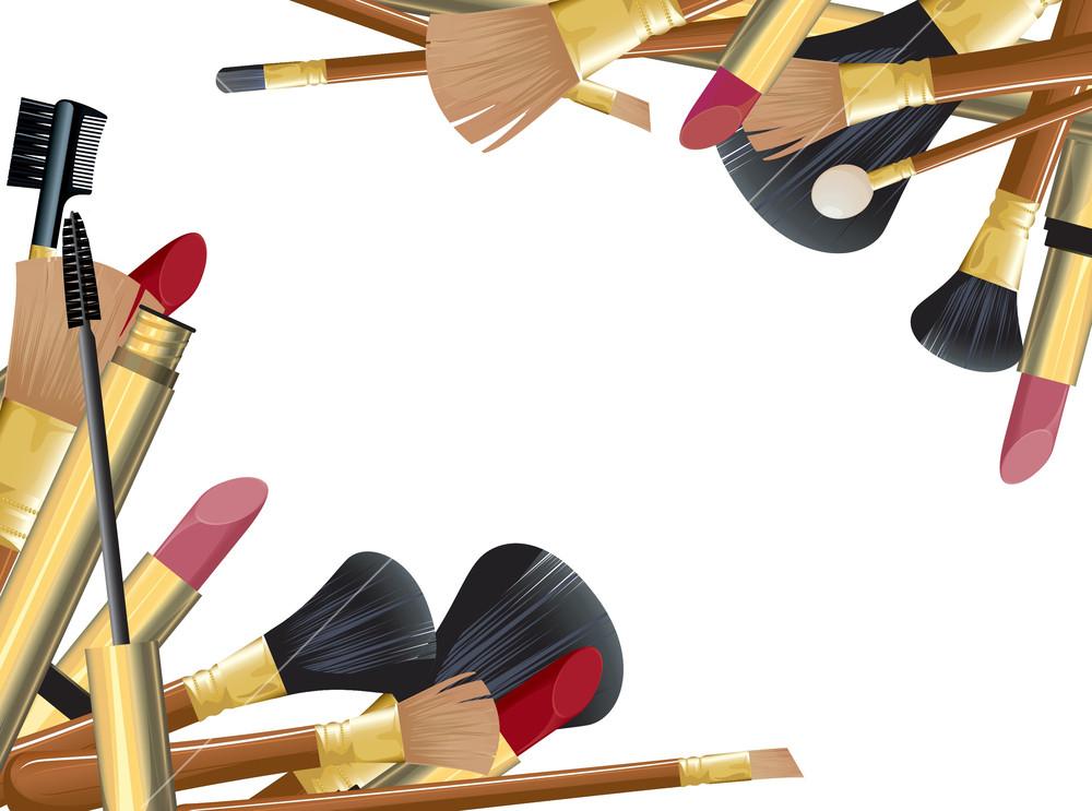 makeup brush vector - photo #44