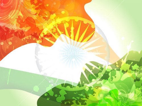 Creative Watercolor Indian Flag Background For Indian: Illustration Of Abstract Tricolor Indian Flag Ashok Wheel