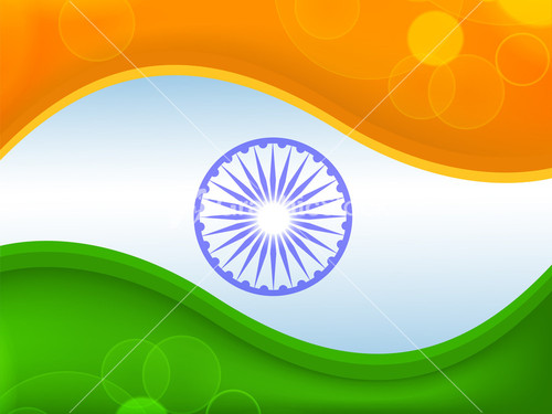 India Flag Colors: Illustration Of Abstract Tricolor Indian Flag Ashok Wheel