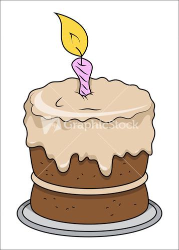 Cute Cartoon Cake Images : Cute Little Baby Girl - Vector Cartoon Illustration