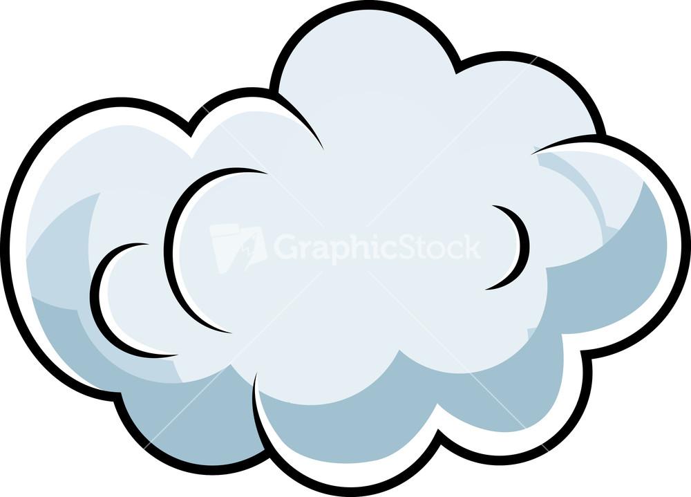 Cute ic Cloud Cartoon Vector Stock Image