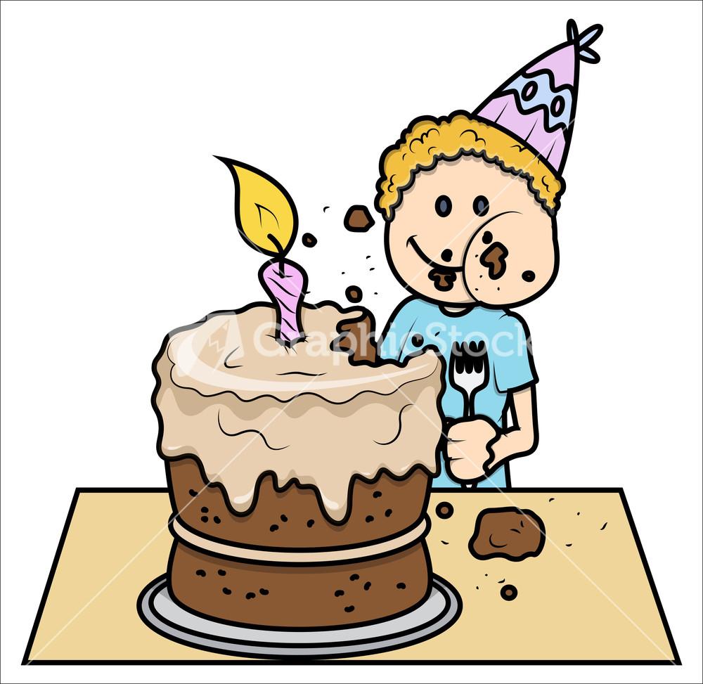 Eating Birthday Cake Cartoon Image Inspiration of Cake and