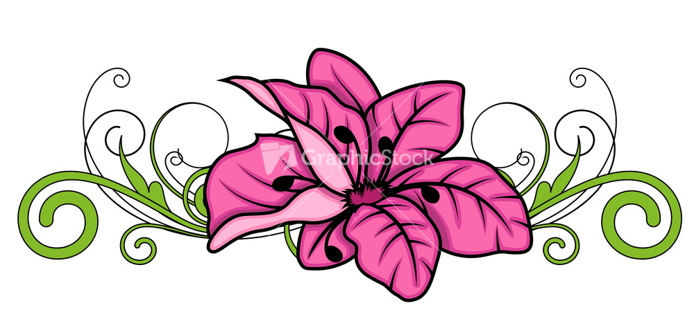 decorative flower divider vector design