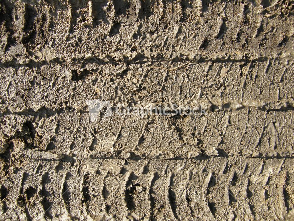 Mud Tire Tracks Dirt And Mud Tire Trac...