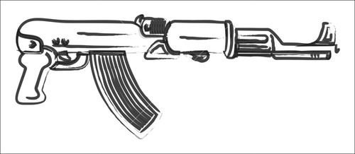 Machine Gun Drawing | www.imgkid.com - The Image Kid Has It!