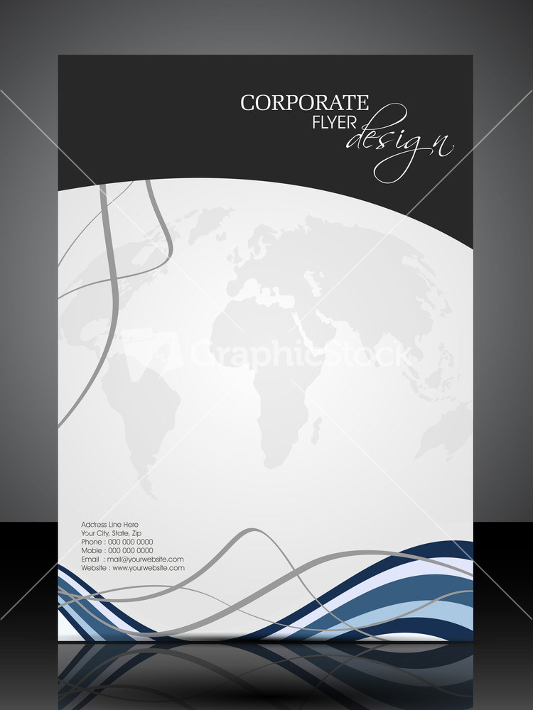 Eps 10 Professional Corporate Flyer Design Presentation. Editable