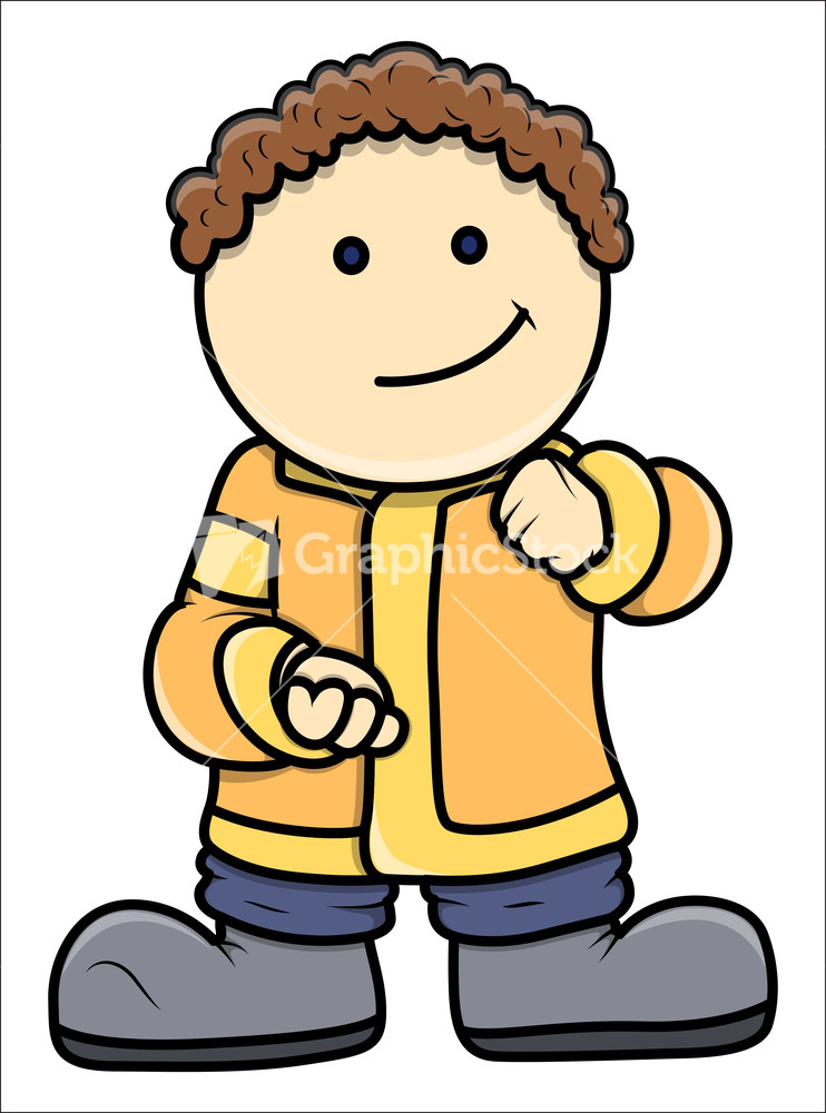 fat cartoon kid vector cartoon illustration - Cartoon Kid Images