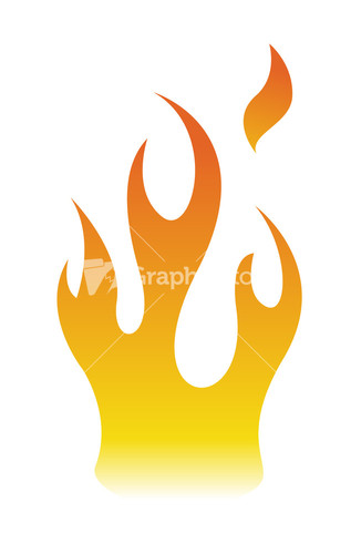 Fire Flame Elements Design Silhouette