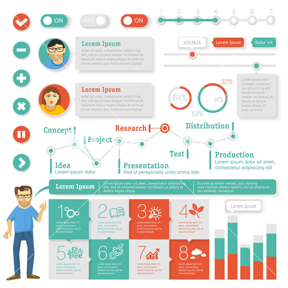 Education Infographic Template And Design Element Set. Vector ...