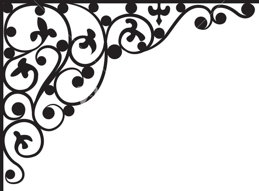 Floral Corner Vector Element Stock Image