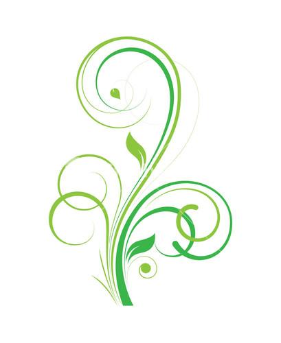 green flourish design