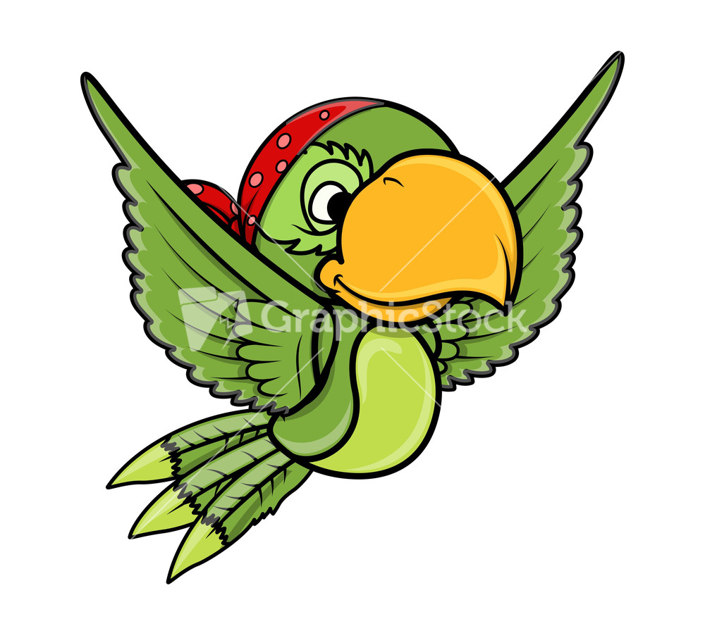 Cartoon parrot flying - photo#12