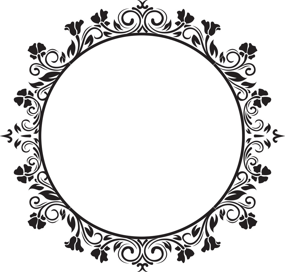Black Flower Decorative Frame Vectors Material 04 Free: Royalty Free Stock Images, Vectors, Illustrations